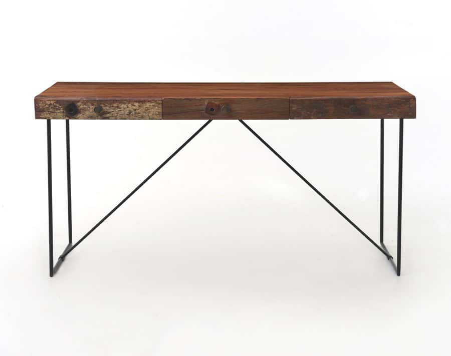 Reclaimed wood desk nw home interiors bend or Reclaimed wood furniture portland oregon