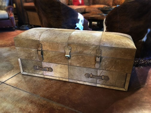 Cowhide Storage Trunk With Drawer Nw Home Interiors
