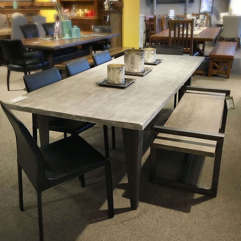 Rustic Modern Dining Table and Bench | NW Home Interiors ...