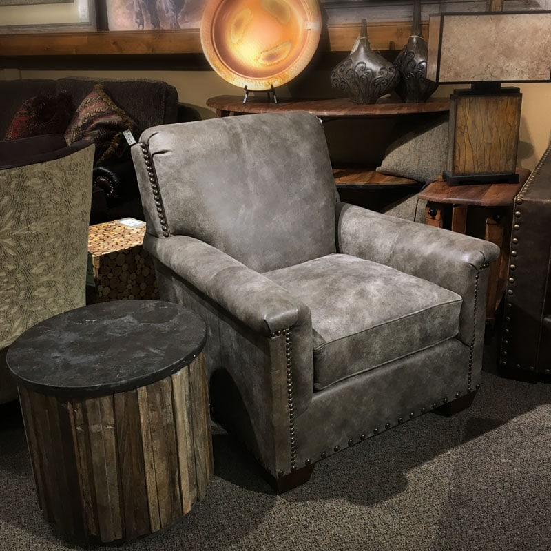 Grey Leather Chair Nw Home Interiors Bend Or